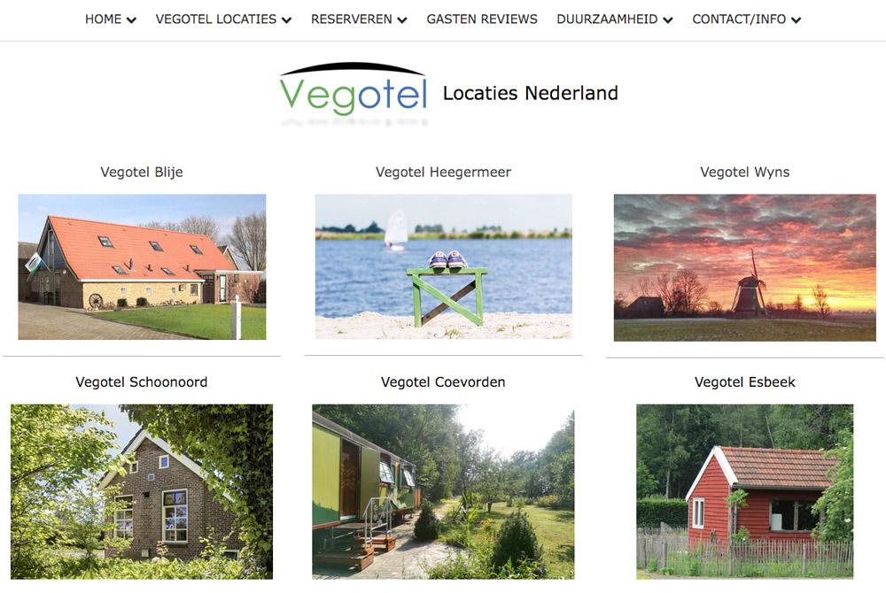 Vegotel in Nederland, Italië, Frankrijk en Schotland